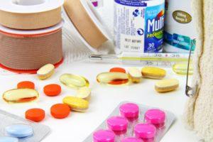 aid, bandage, bottle